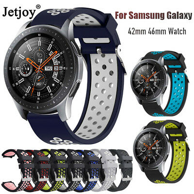 Silicone Watch Bracelet Strap Band For Samsung Galaxy Watch 42mm 46mm Gear S2 S3