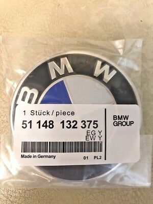 Fit BMW Car Emblem Chrome Front Badge Logo 82mm 2 Pins For BMW Hood/Trunk e34 60