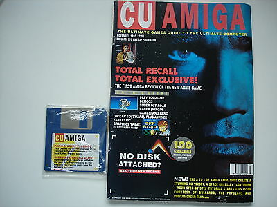 CU AMIGA  MAGAZINE  -  Amiga - November 1990  -  WITH COVER DISC