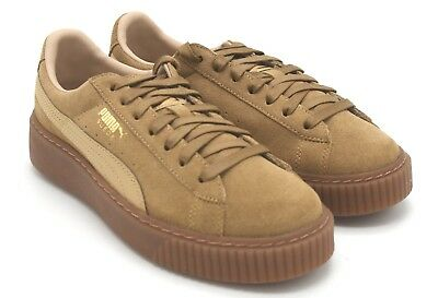 afe6642c04f NEW PUMA WOMEN S 7 Suede Lunalux Rosegold Tan Cream Platform Creeper ...