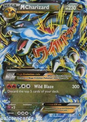 Mega Charizard EX 69/106 MCMB Rare Holo Mint Pokemon Card