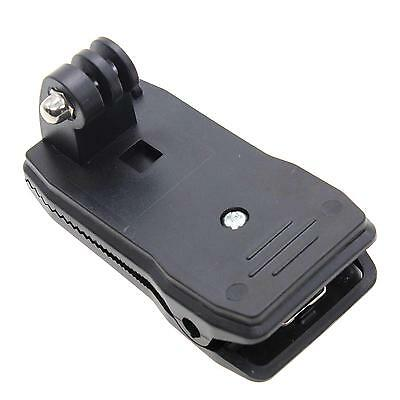360 Rotary Backpack Hat Mount Clip Fast Clamp Mount For GoPro Hero 4 3+ 3 2 1