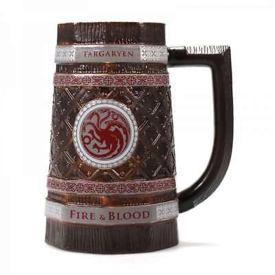Official Game Of Thrones Beer Stein Ale Tankard House Of Targaryen