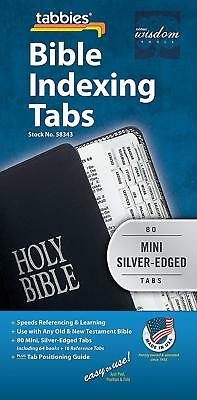 Tabbies Mini Silver-Edged Bible Indexing Tabs, Old & New Testament, 80 Tabs I...