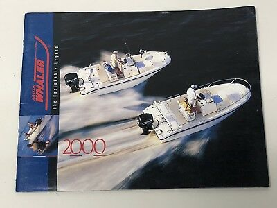 Boston Whaler~Boats~2000 Original Sales Brochure~Good Condition~Montauk~Outrage