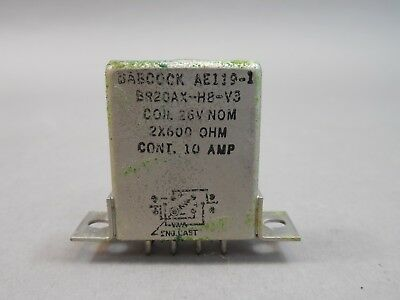 Babcock Relay BR20AX-H8-V3 26v 2x600 Ohm 10 Amp