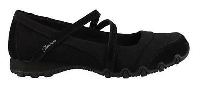 Get Women's Black Mary Jane Up Shoes Comfort Bikers Skechers Walking wXOk80nP
