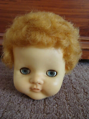 "21"" Pedigree transitional doll head with original blonde saran hair"