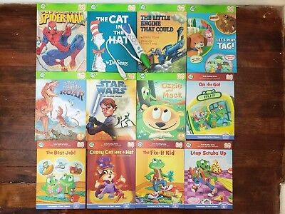 Leap Frog Tag Reading System W/ 12 Books Tag Reader and Connect Cable
