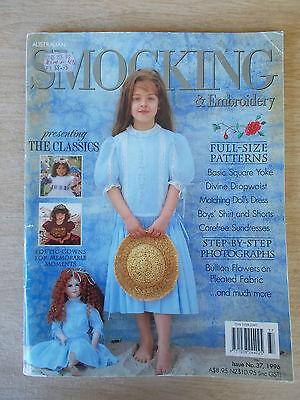Australian Smocking & Embroidery #37~Dresses~Baby~Doll~Boy's Shirt & Shorts