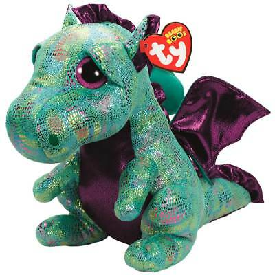 0ee7c8d8a77 New TY Beanie Boos CINDER The Green Dragon LARGE Size 17 inch MWMTs Boo Toy