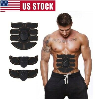 Indoor Muscle Stimulator Training Gear ABS Trainer Six Pads Body EMS Exercise US