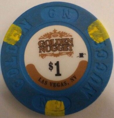 Las Vegas, NV Golden Nugget $1 CASINO POKER CHIP downtown Fremont st.