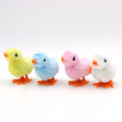 Wind-up Hopping Cute Jumping Chicken Plush Clockwork Toy Kids Easter Nice