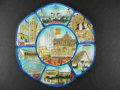 Valencia Plate Spain Relief Poly Collection Plate, Souvenir, 13,5 cm, New