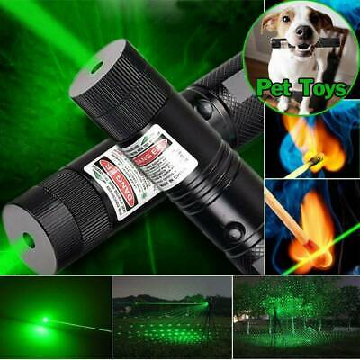 Military High Power Green Laser Pointer Pen - 18650 Battery & Charger AU Adapter