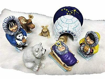 Alaska Big Dipper Alaskan Resin Igloo Eskimo Nativity Set