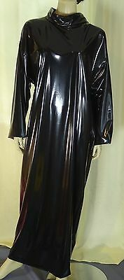 Zofenkleid Maid dress Cameriere vestono zofe devot Schloss closed NEU PVC black