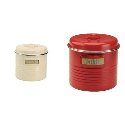 Typhoon Vintage Kitchen Large Storage Canister - Choice of Cream / Red.
