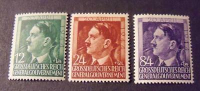 General Governement 1944 Hitler 55th Birthday stamp set -MNH- WW2 occupation