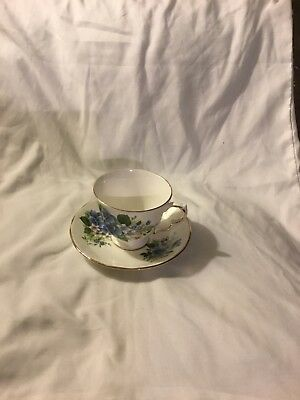 Queen Anne Fine Bone China England Tea Cup and Saucer Pattern 8609