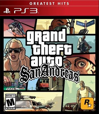 Grand Theft Auto San Andreas - GTA SA - PS3 - No CD - Read description