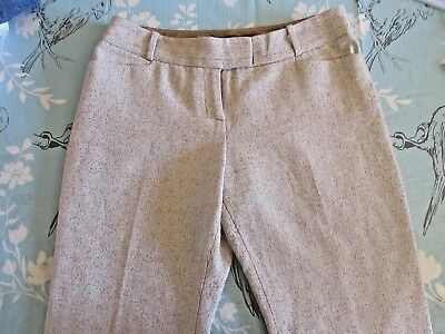 NWOT The Limited  Size:10R TWEED Cotton/Poly Women Dress Pants Light Tan