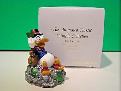 LENOX Disney SCROOGE McDUCK THIMBLE New in Box Donald Duck Uncle