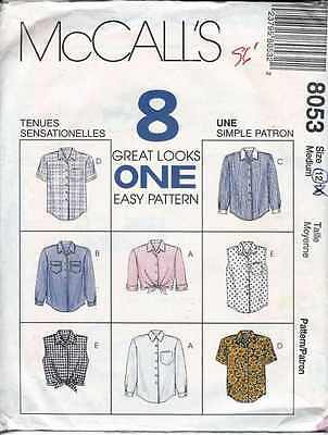 BLOUSE Pattern MIDRIFF Casual BUSINESS SLEEVE VARIATIONS Sz 12