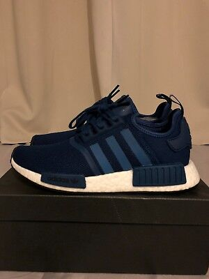 ADIDAS NMD_R1 ORIGINALS Men's Shoes Size 8 Blue Night BY3016 Rare BRAND NEW
