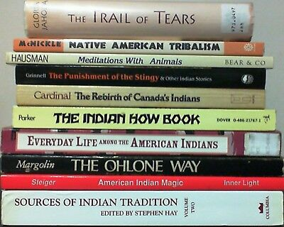 LOT OF 10 BOOKS all about NATIVE AMERICAN INDIANS