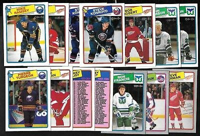 1988-89 Opc O Pee Chee Hockey Card Error Variation Box Bottom 133-264 See List
