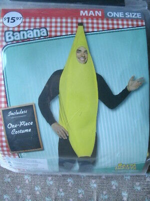ADULT COSTUME *BANANA* man one size NEW WITH PACKAGING