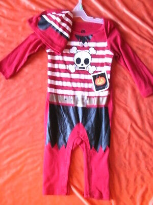 CHILD COSTUME TWO PIECE OUTFIT *PIRATE* infant 6-9 months NEW WITH PACKAGING