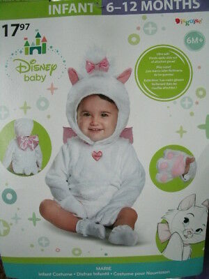 DISNEY ARISTOCATS COSTUME *MARIE* infant 6-12 months NEW WITH PACKAGING