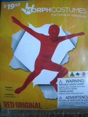 CHILD MORPH COSTUME *RED ORIGINAL* boy large 10-12 NEW WITH PACKAGING