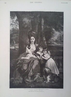 "1897 PRINT ""LADY BETTY DELME"" by SIR JOSHUA REYNOLDS - THE ""FRAM"" NANSEN'S SHIP"