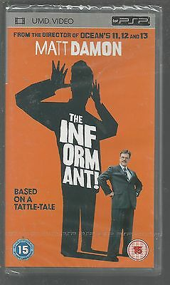 THE INFORMANT - sealed/new - UK PSP UMD VIDEO - Matt Damon