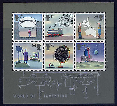 GB 2007 WORLD of INVENTION MINIATURE SHEET MNH