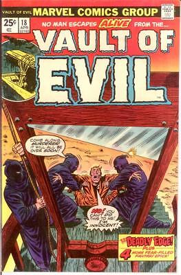 VAULT OF EVIL (1973) 18 VERY FINE April 1975 COMICS BOOK