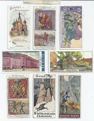 #32 c1900 Lot of 8 Diff Famous German Various / Misc Advertising Trade Card Ad
