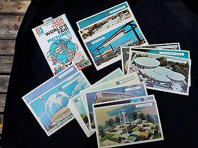 1964 New York World's Fair Pictures Official Souvenir Flash Card Set 28 Cards