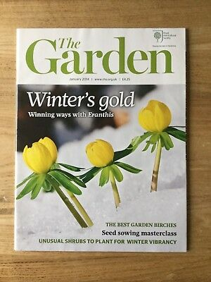 Rhs - The Garden Magazine - January 2014 - Mint - Free P&p