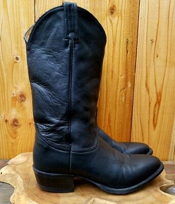 d487ff4e024 VTG TONY LAMA Ol' Buck #6156 Black Leather Western/Cowboy Boots Men's sz 11