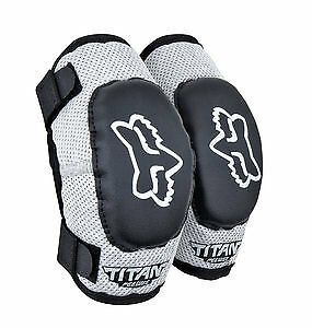 Fox Racing Titan Kids Elbow Guards Black/Silver