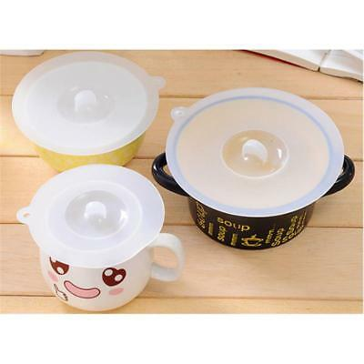 Silicone Glass Cup Cover Coffee Mug Suction Sealed Lid Cap Kitchen Tool Y