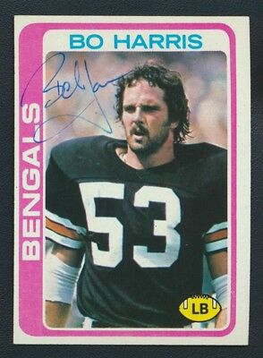 1978 Topps #249 Bo Harris Autograph Vintage Signed Louisiana State Bengals