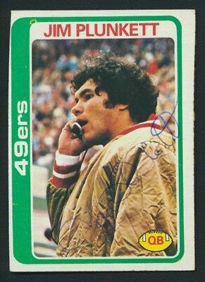 1978 Topps #131 Jim Plunkett Autograph Vintage Signed Stanford 49ers