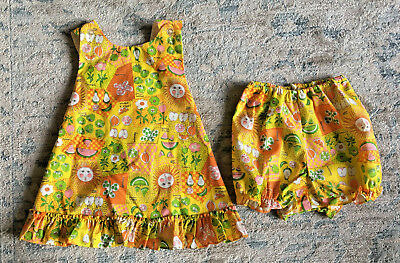 Ruth Scharf Girls Swing Tunic Top & Shorts Vintage Outfit Size 6 NWT