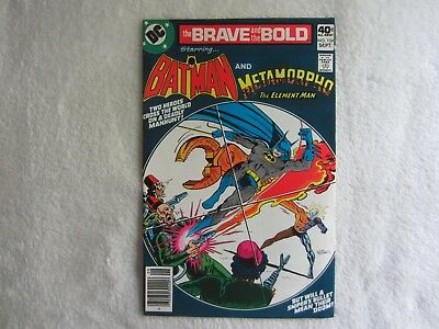 The Brave and the Bold Comic #154 September 1979 Starring Batman and Metamorpho